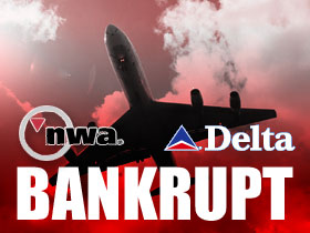 NWA and DELTA Bankrupt